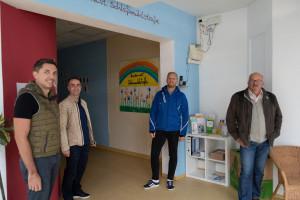 Unsere Fraktion besucht die Kinderwelt und informiert sich über die mögliche Erweiterungen (Bild: Christian Gerold).