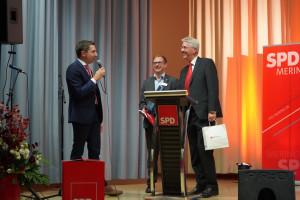 Stefan Hummel, Christian Gerold und Bürgermeister Hans-Dieter Kandler