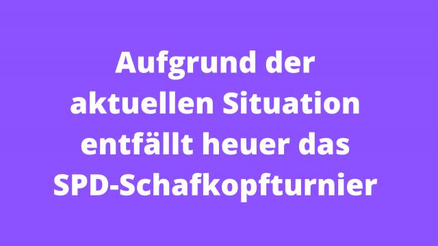 SPD-Schafkopfturnier entfällt