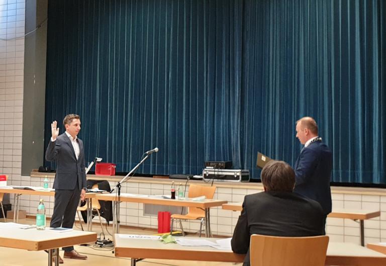 Stefan Hummel wird vereidigt